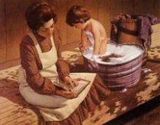 Bathing in a Glavanized Tub at Grandma's House.